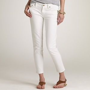 J. Crew White Cropped Matchstick Jeans n905